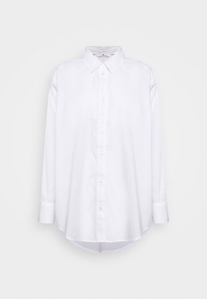 BLOUSE SOLID LOOSE SHAPE - Button-down blouse - white