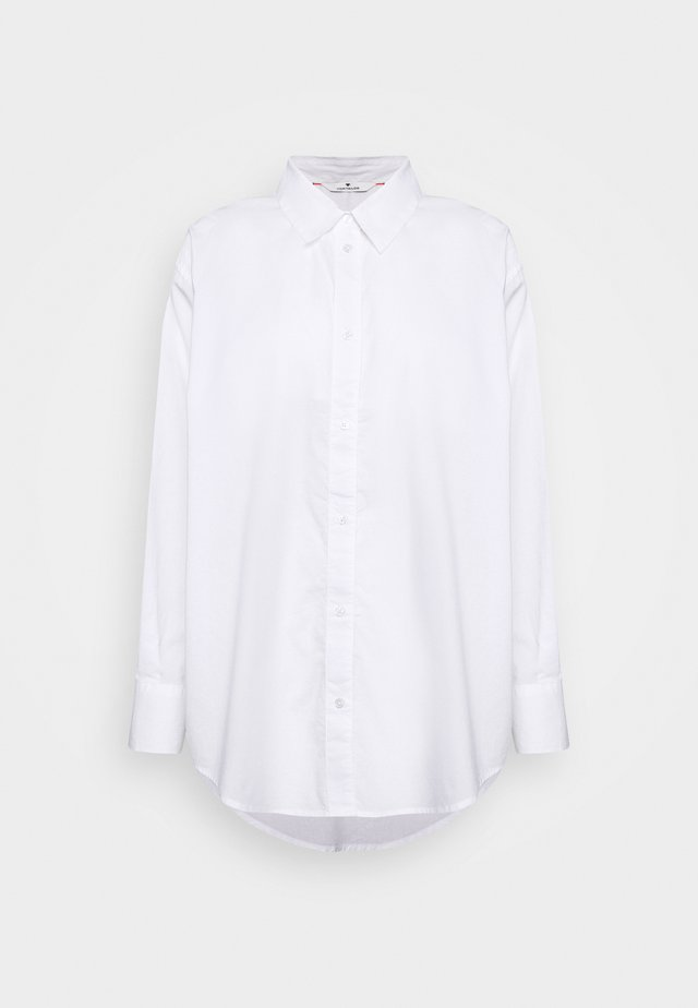 BLOUSE SOLID LOOSE SHAPE - Chemisier - white