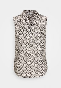 TOM TAILOR - BLOUSE PRINT AND SOLID - Camicetta - vanilla - 4