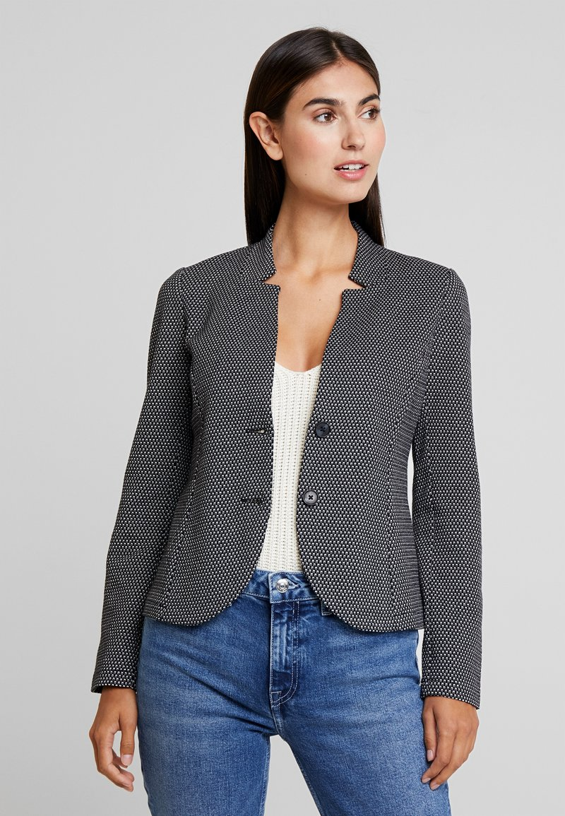 TOM TAILOR - WITH STRUCTURE - Blazer - black/offwhite