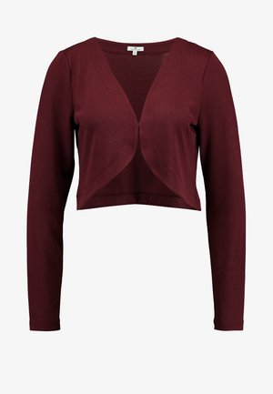 BOLERO - Cardigan - deep burgundy red