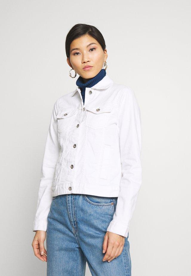 COLORED JACKET - Kurtka jeansowa - white