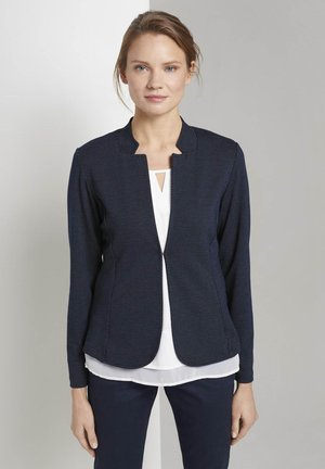 BLAZER STRUKTURIERTER BLAZER - Blazer - navy dotted fabric