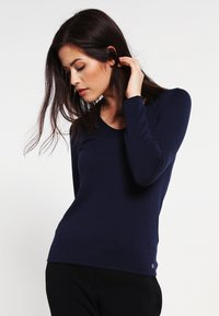 TOM TAILOR - V NECK - Sweter - real navy blue - 0