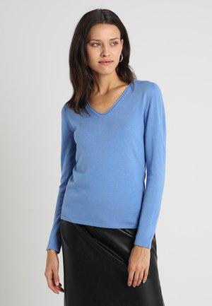 BASIC V NECK - Maglione - sea blue