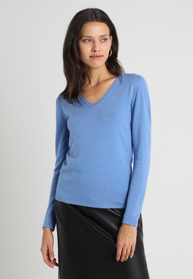 BASIC V NECK - Sweter - sea blue