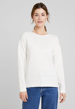 STRUCTURED - Jersey de punto - whisper white