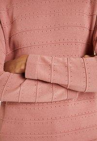 TOM TAILOR - STRUCTURED - Stickad tröja - vintage rose - 4