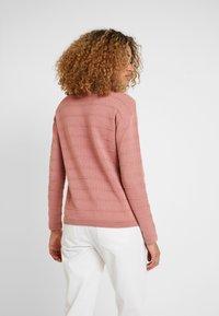TOM TAILOR - STRUCTURED - Stickad tröja - vintage rose - 2