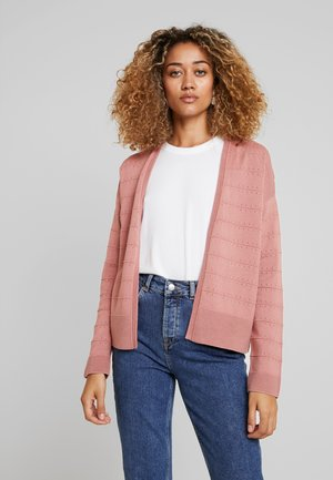 STRUCTURED CARDIGAN - Kofta - vintage rose