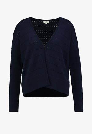 STRUCTURED CARDIGAN - Strikjakke /Cardigans - sky captain blue