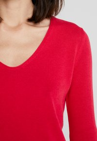 TOM TAILOR - BASIC V NECK - Sweter - dawn pink - 4