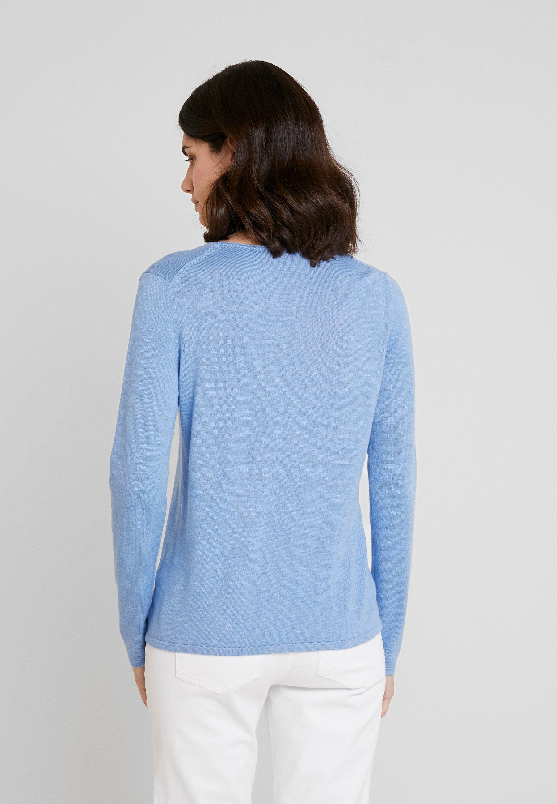 V Sea NeckPullover Blue Melange Basic Tailor Tom cFJ1KTl