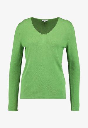 Strickpullover - sundried turf green/green