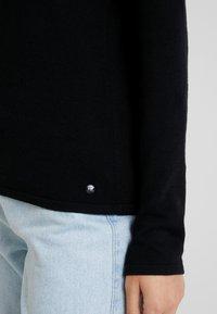 TOM TAILOR - BASIC V NECK - Sweter - deep black - 4