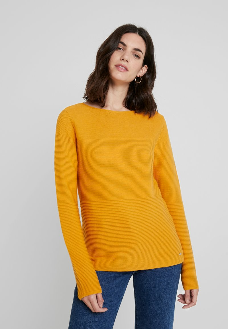 TOM TAILOR - OTTOMAN STRUCTURE - Jumper - merigold yellow