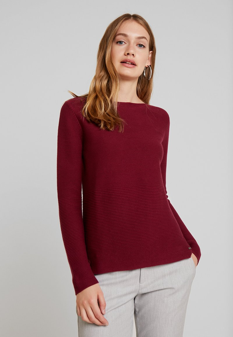 TOM TAILOR - OTTOMAN STRUCTURE - Pullover - tile red