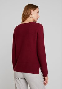 TOM TAILOR - OTTOMAN STRUCTURE - Pullover - tile red - 2