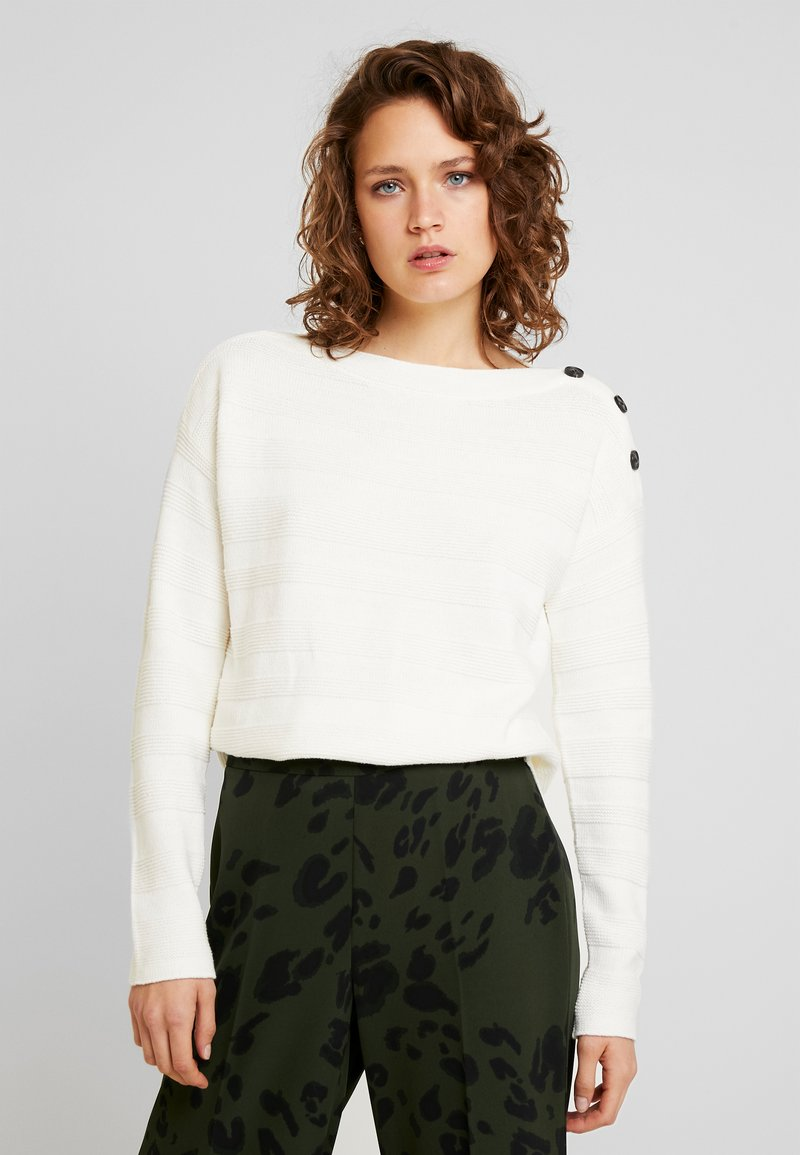 TOM TAILOR - BUTTON DETAIL - Jumper - whisper white