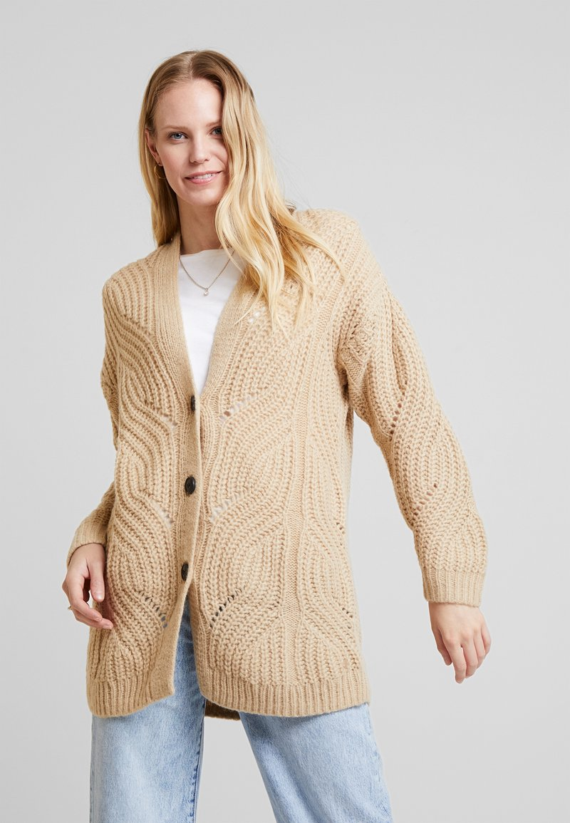 TOM TAILOR - Vest - light camel melange