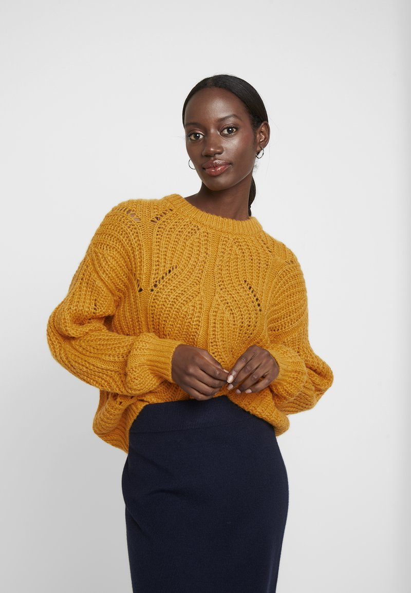 TOM TAILOR - Strikpullover /Striktrøjer - merigold yellow