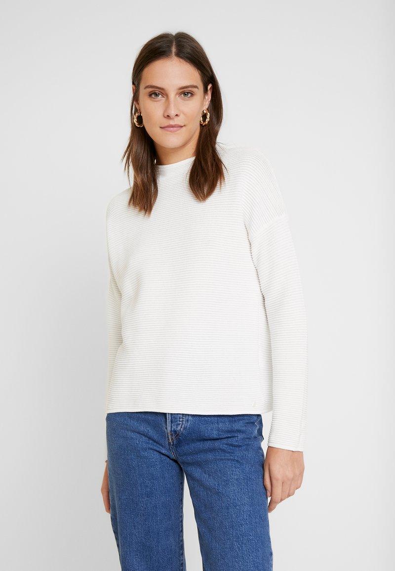 TOM TAILOR - Stickad tröja - whisper white