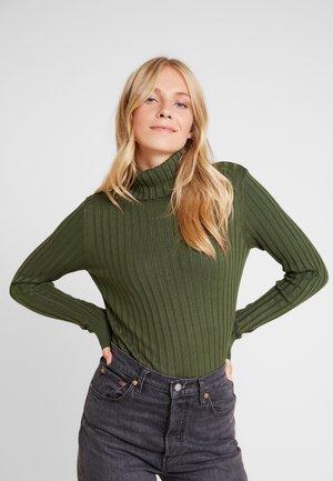 TURTLENECK - Stickad tröja - olive night green