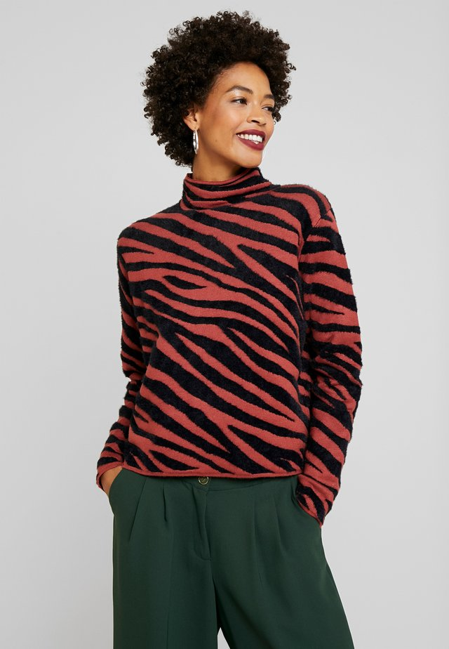 CROPPED - Jumper - black/brown