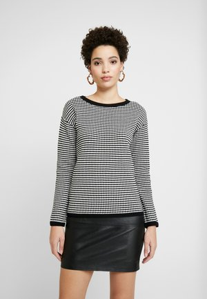 STRUCTURED - Sweter - white/black