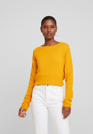 STRUCTURED - Sweter - merigold yellow