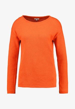 STRUCTURED - Svetr - knockout orange