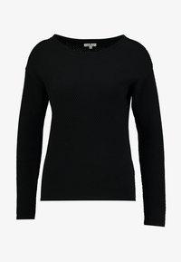 TOM TAILOR - STRUCTURED - Sweter - deep black - 3