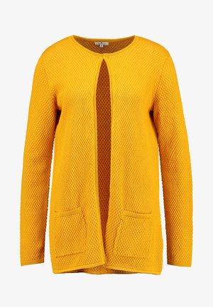 CARDIGAN STRUCTURED - Cardigan - merigold yellow
