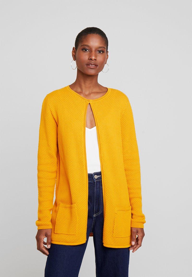 TOM TAILOR - CARDIGAN STRUCTURED - Cardigan - merigold yellow