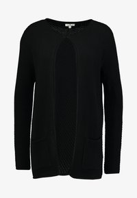 TOM TAILOR - CARDIGAN STRUCTURED - Cardigan - deep black - 4