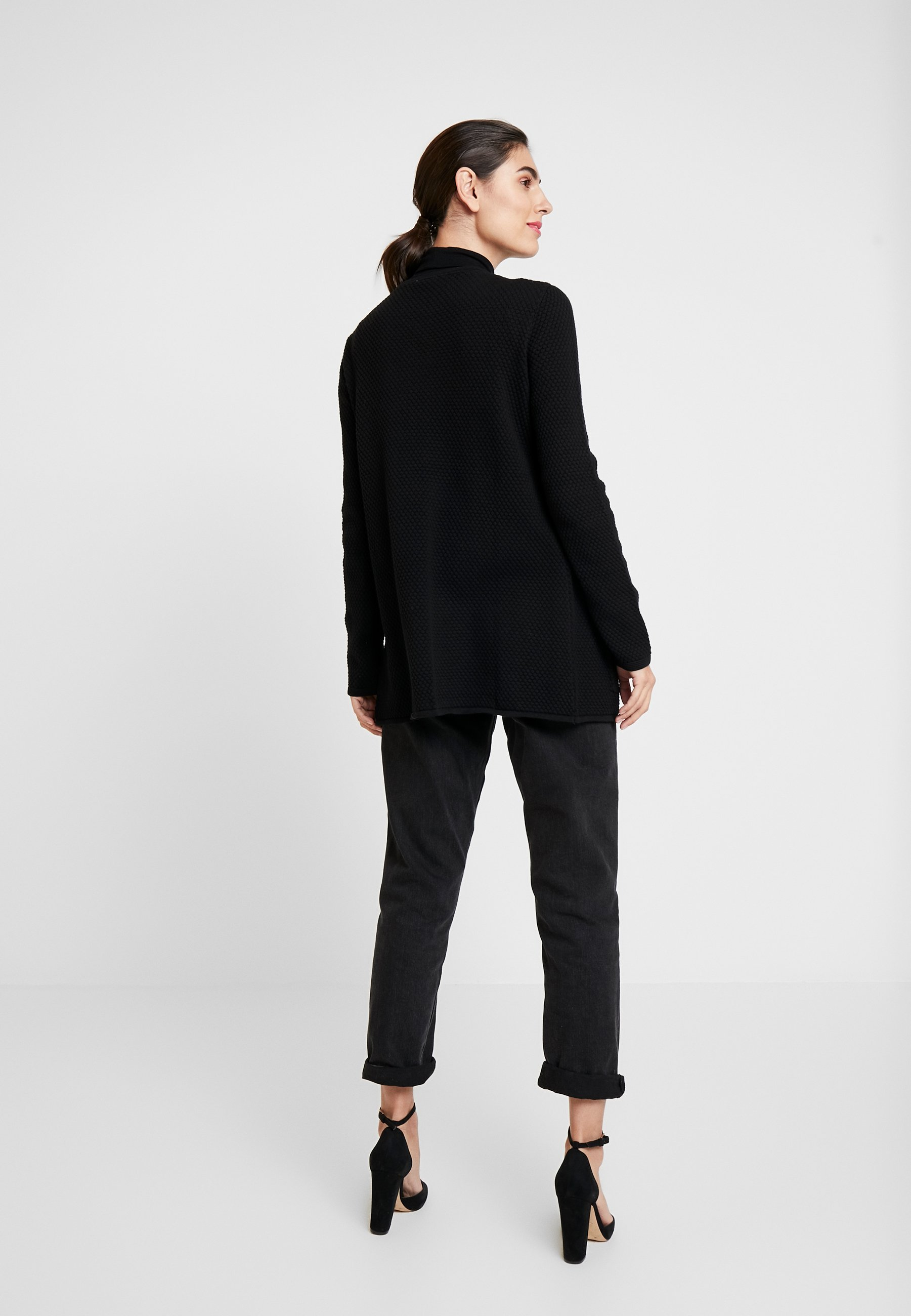 Tom Tailor Cardigan Structured - Strikjakke /cardigans Deep Black