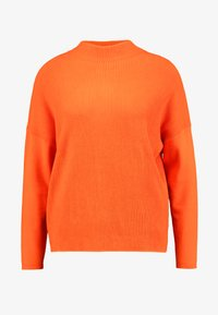 TOM TAILOR - BATWING OTTOMAN - Sweter - knockout orange - 3