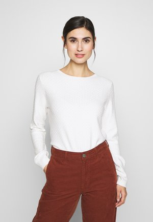 SMALL STRUCTURE - Sweter - whisper white