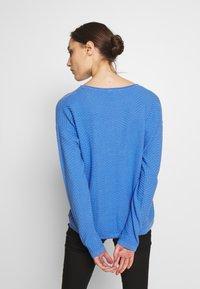 TOM TAILOR - ZIGZAG STRAP - Sweter - sicilian blue - 2