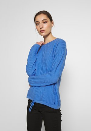 ZIGZAG STRAP - Sweter - sicilian blue