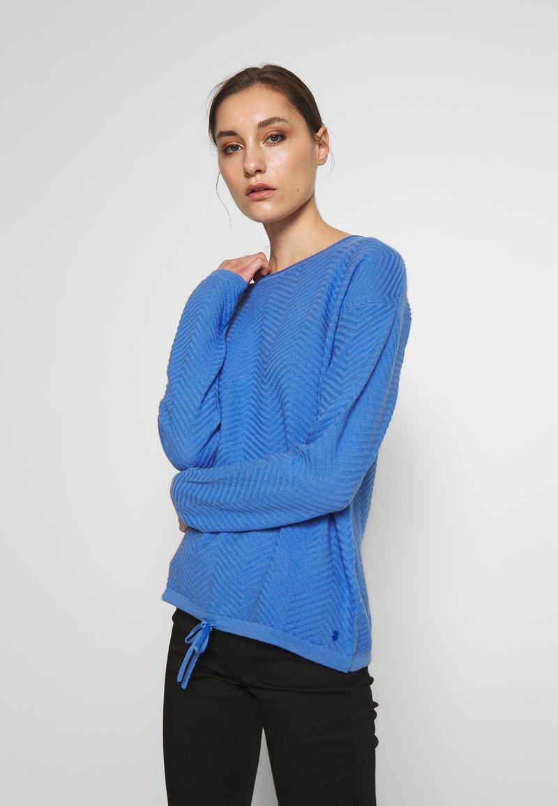 TOM TAILOR - ZIGZAG STRAP - Sweter - sicilian blue