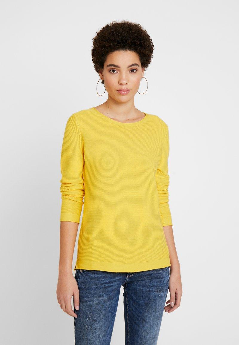 TOM TAILOR - NEW OTTOMAN - Sweter - jasmine yellow