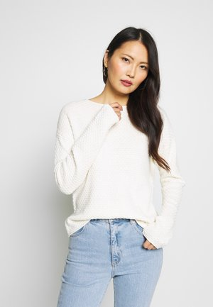 BOXY STRUCTURE - Sweter - whisper white