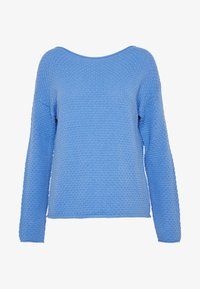TOM TAILOR - BOXY STRUCTURE - Sweter - sea blue - 4