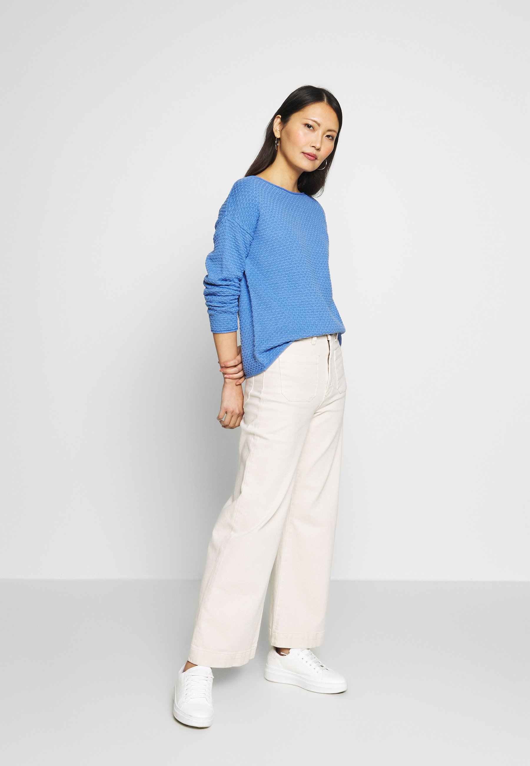 TOM TAILOR BOXY STRUCTURE - Sweter - sea blue