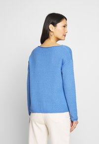 TOM TAILOR - BOXY STRUCTURE - Sweter - sea blue - 2