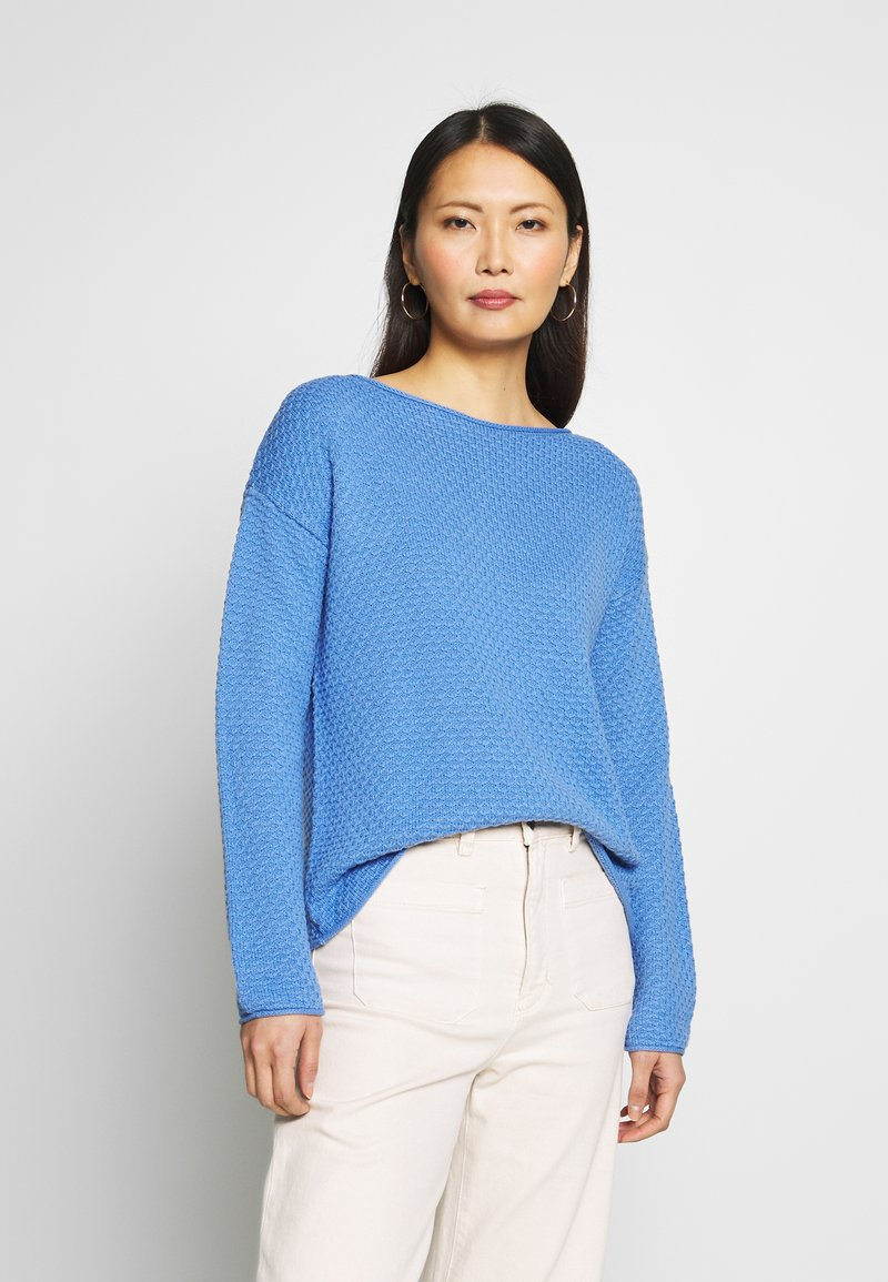 TOM TAILOR - BOXY STRUCTURE - Sweter - sea blue