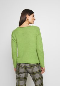 TOM TAILOR - BOXY STRUCTURE - Sweter -  green - 2