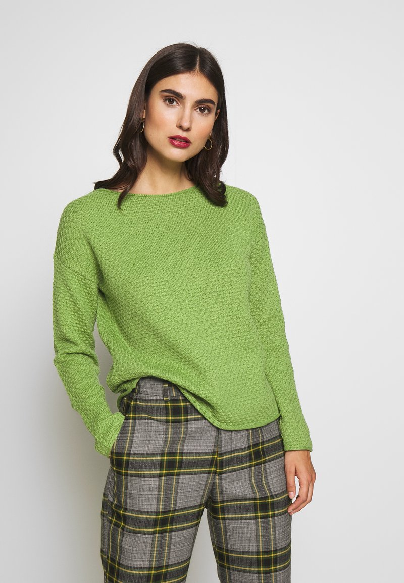 TOM TAILOR - BOXY STRUCTURE - Sweter -  green