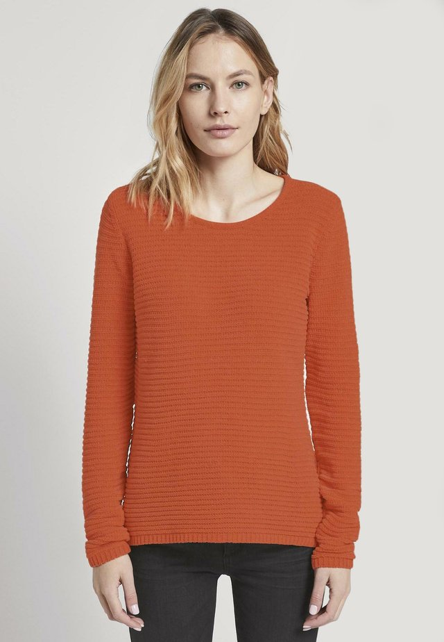 MIT STRUKTURSTOFF - Jersey de punto - knockout orange